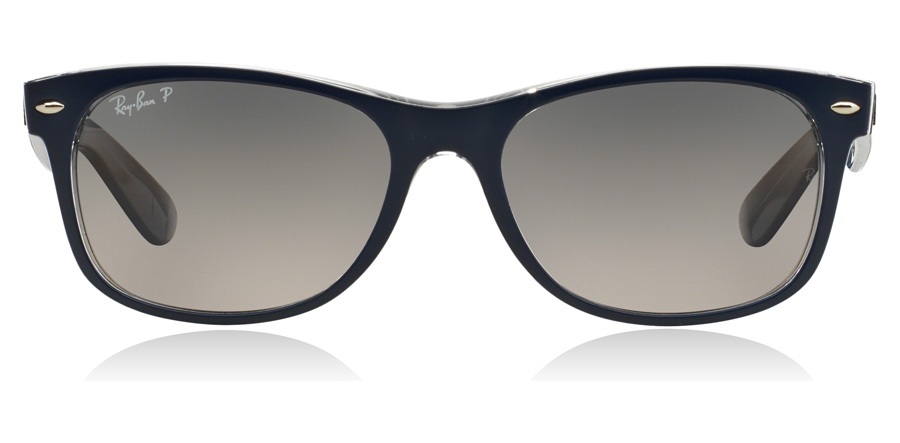 Ray-Ban New Wayfarer RB2132 Blue 6053M3 52mm Polariserte