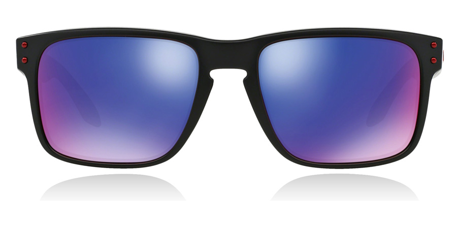 Oakley Holbrook OO9102-36 Matt sort / rød 57mm