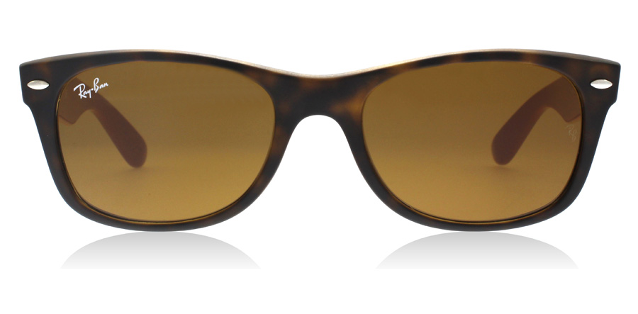 Ray-Ban RB2132 New Wayfarer Tortoise / grå brun 6179 55mm