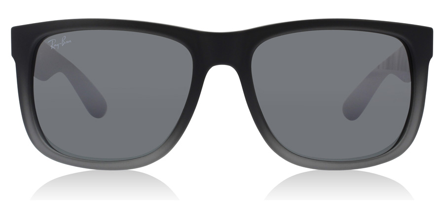 Ray-Ban Justin RB4165 Grå gummi / transparent 852/88 55mm