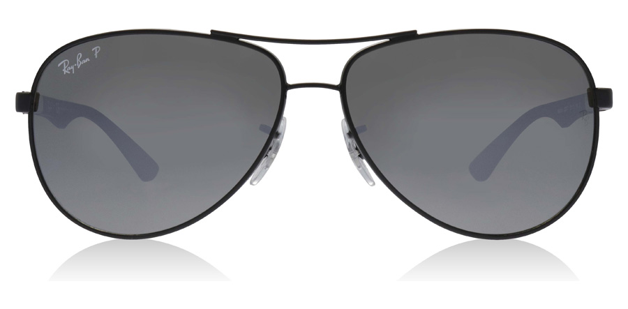 Ray-Ban RB8313 8313 Polert sort 002/K7 61mm Polariserte