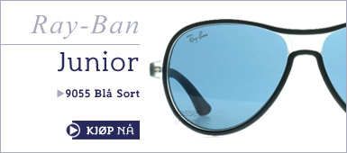 Ray-Ban Junior 9055 Sort Blå Solbriller hos Sunglasses Shop
